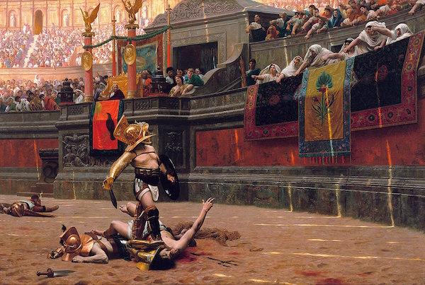 Painting of gladiators