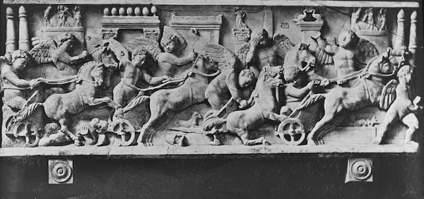 Chariot Racing Sculpture