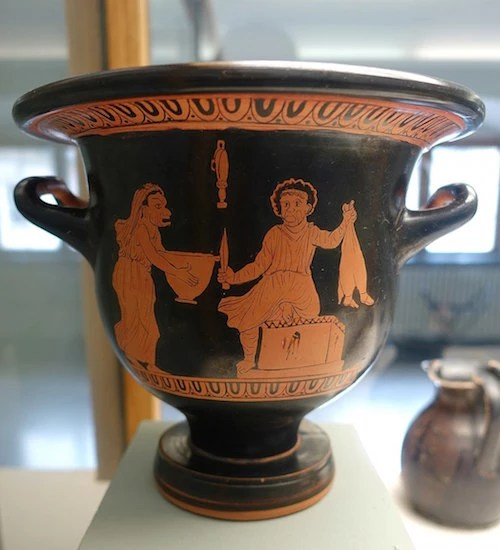 vase painting of play