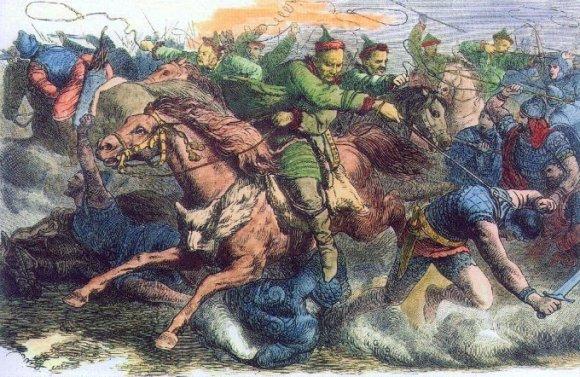 Huns in battle