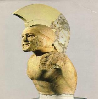 Statute of a helmed hoplite