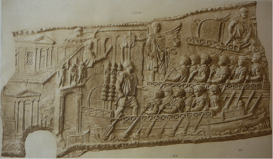 A Liburnian galley- from the 1st century AD