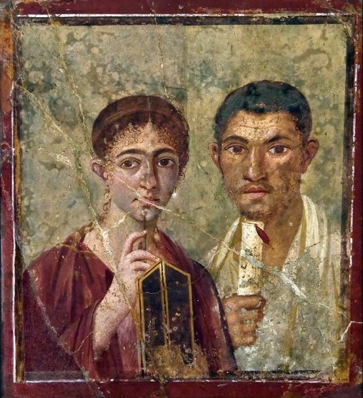 Fresco from a villa from Pompeii