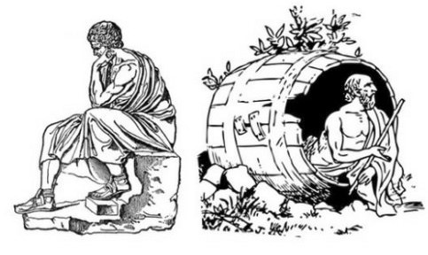 Marcus Aurelius and Diogenes: Stoicism and Cynicism