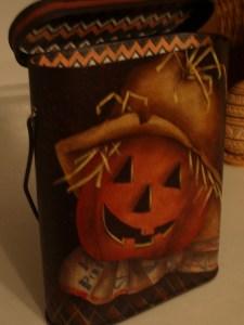 Scarecrow Tin Treat Pail