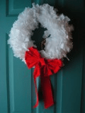 garbage bag wreath