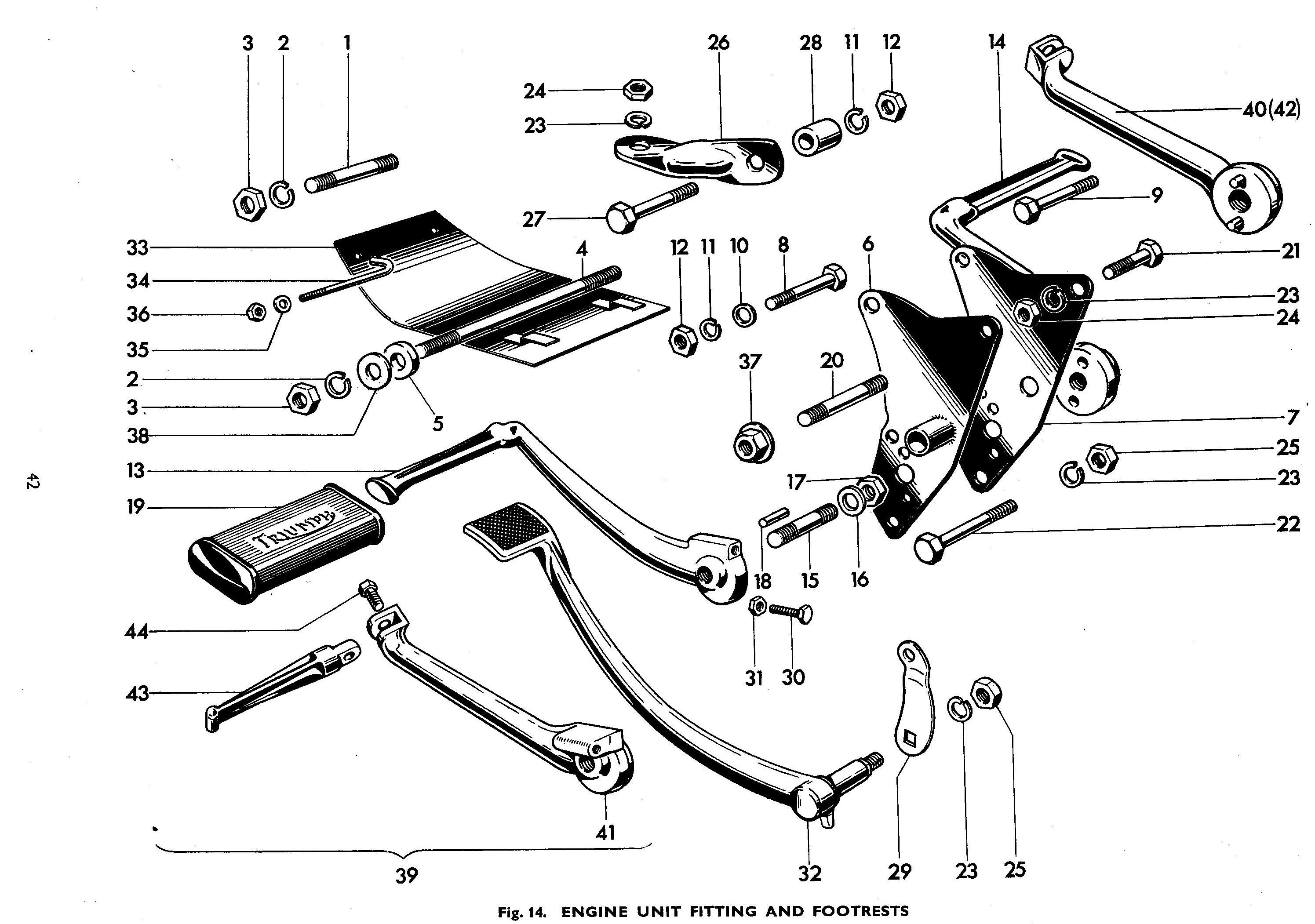 Triumph T120 TR6 Engine Plate Brackets 82-5908 82-6066