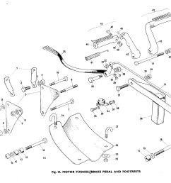 bsa b50 b50t rear brake chain guide torque arm h75  [ 2974 x 2231 Pixel ]