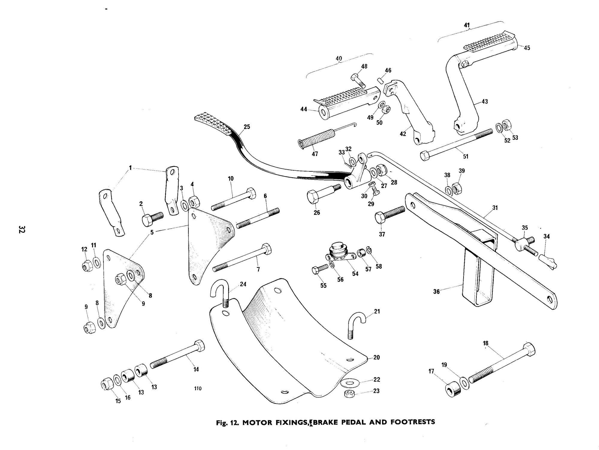 hight resolution of bsa b50 b50t rear brake chain guide torque arm h75
