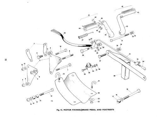 small resolution of bsa b50 b50t rear brake chain guide torque arm h75