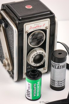 Of course its a 620 roll film camera, 35mm can shown for scale
