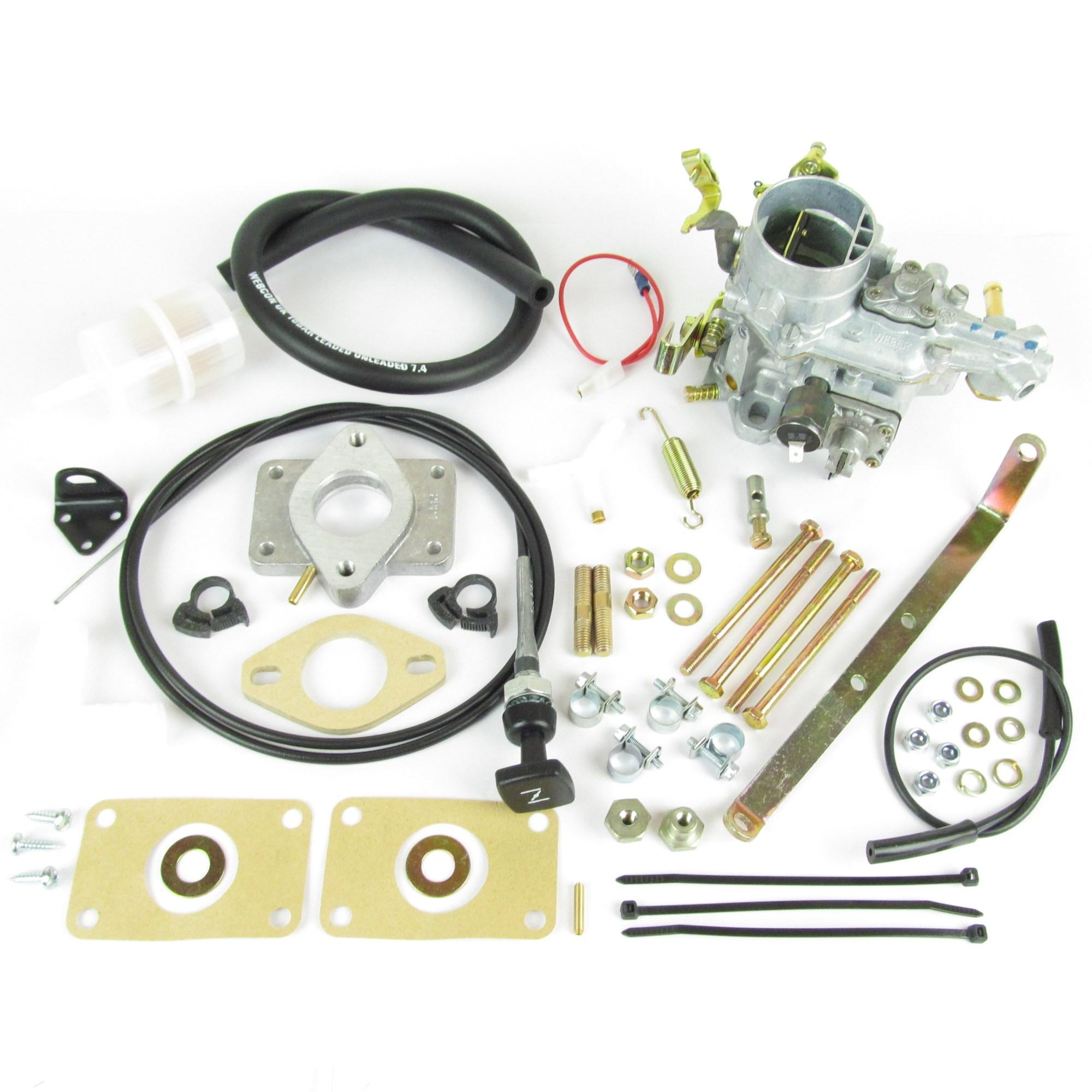 hight resolution of weber 34 ich carb carburettor kit vw volkswagen golf jetta 1093cc