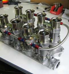 small block ford v8 engine 289 302 351 weber 48 ida carbs inlet [ 2048 x 1536 Pixel ]