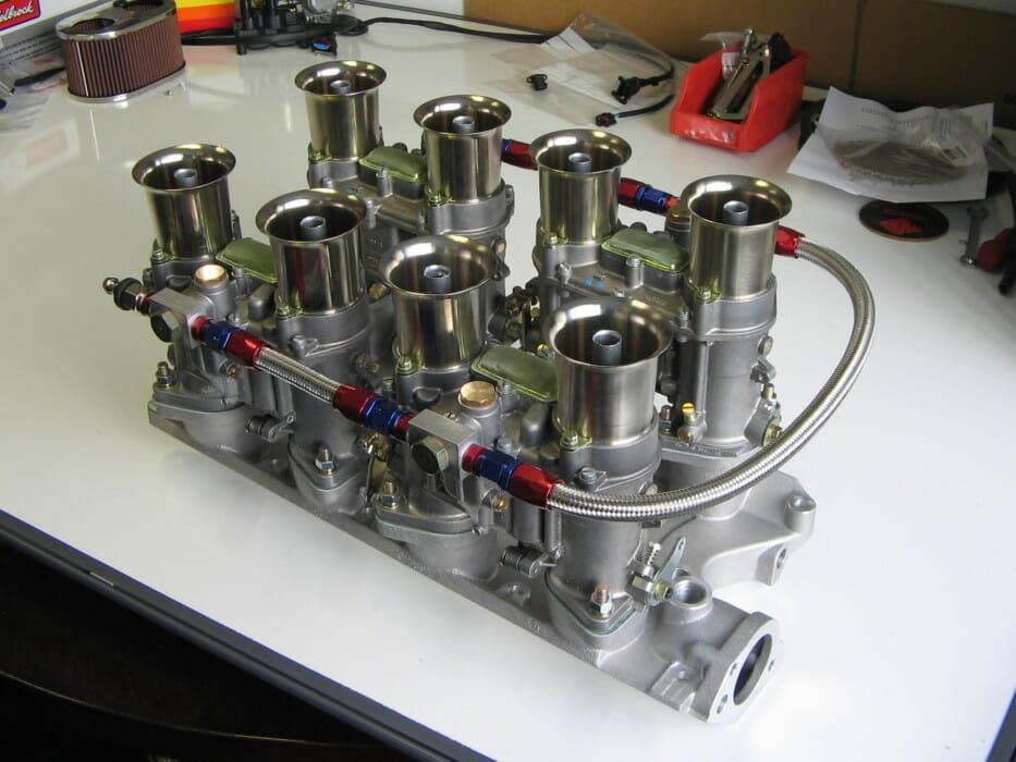 medium resolution of small block ford v8 engine 289 302 351 weber 48 ida carbs inlet