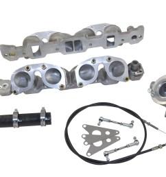 classic rover v8 engine weber idf manifold inlette amp throttle linkage kit [ 1936 x 1296 Pixel ]