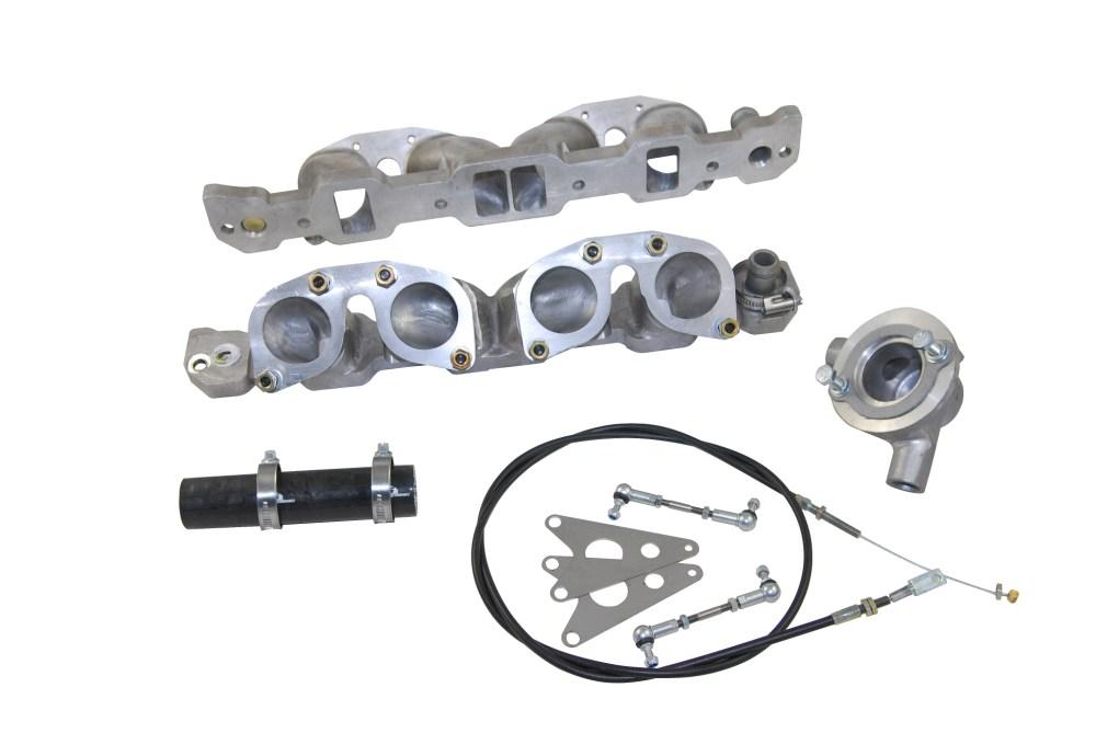 medium resolution of classic rover v8 engine weber idf manifold inlette amp throttle linkage kit