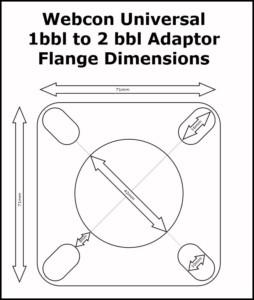 WEBER DGV 32/36 CARB/CARBURETTOR CONVERSION KIT (Manual