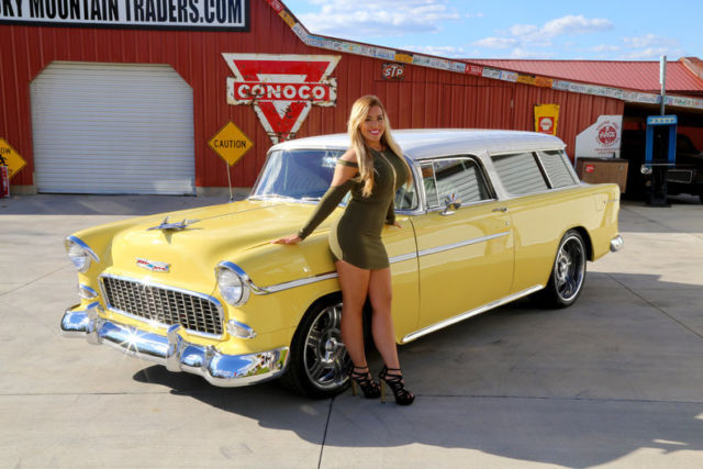 Old Classic El Camino Muscle Cars Wallpaper 1955 Chevrolet Nomad Harvest Gold 327 V8 3 Speed Automatic