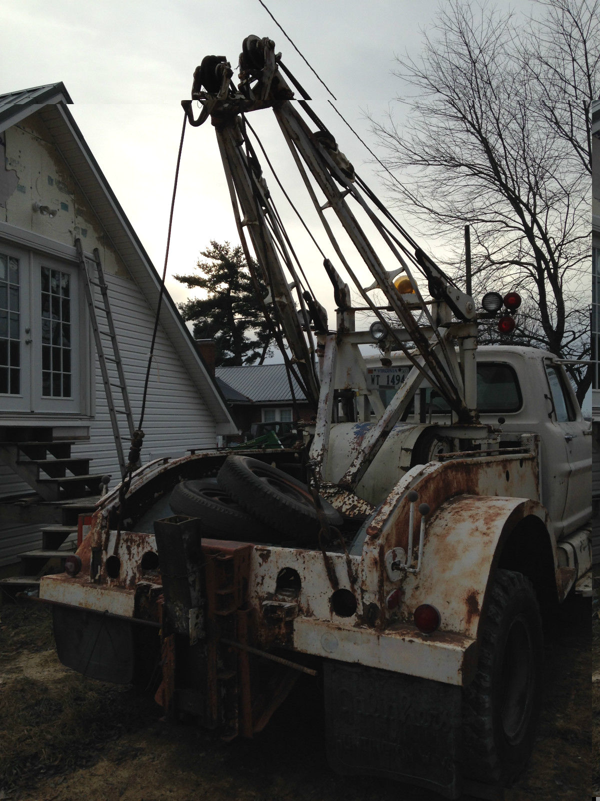 1972 Ford F700 Tow Truck Vintage Holmes 525 Wrecker Use A