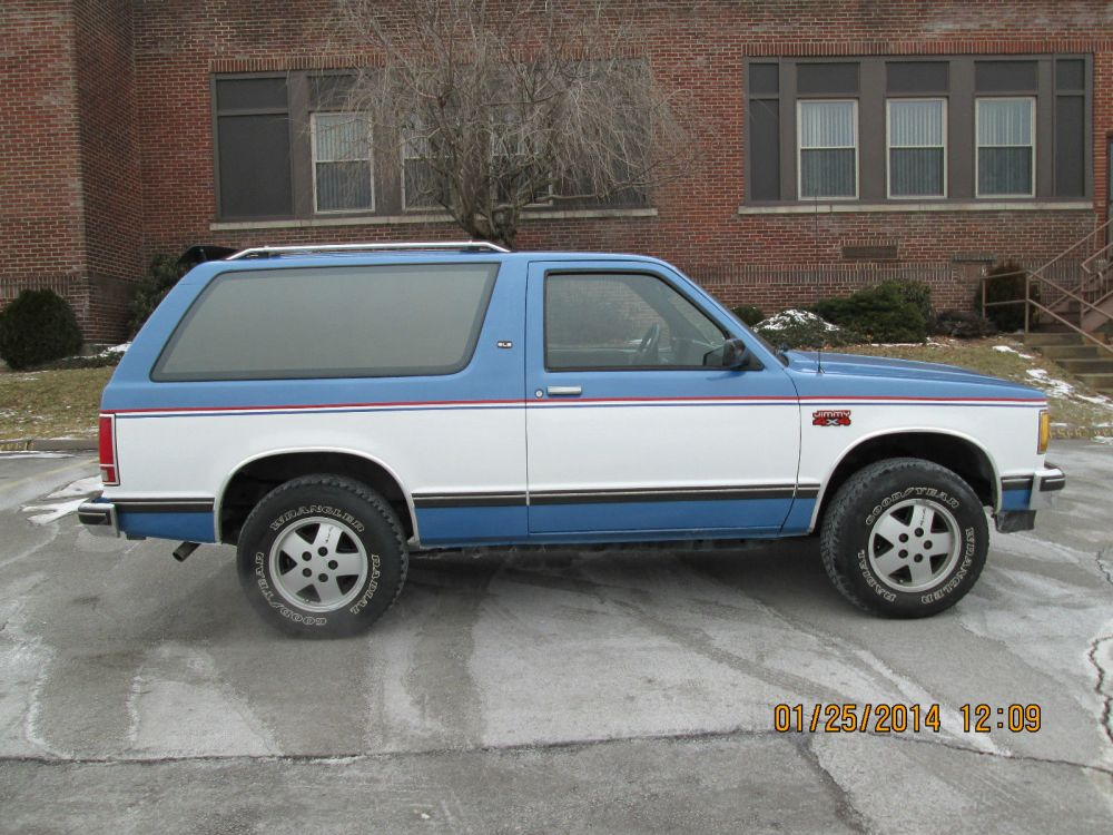 medium resolution of 1985 chevy s10 blazer gmc jimmy 4x4 rust free excellent condition no issues