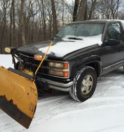 1992 chevy k1500 blazer 4x4 western snow plow runs good v8 yard shop farm truck [ 1600 x 1200 Pixel ]