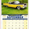 Goodyear Autocare Calendar September 2014 - Ford Galaxie Skyliner