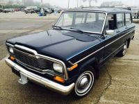 1982 Jeep Wagoneer, blue, good condition, suv, trailer ...
