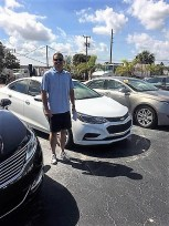 Customer with car