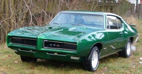 Dark Green 1968 Pontiac GTO