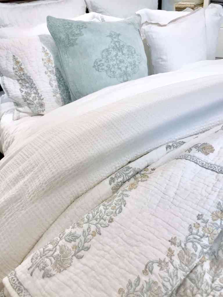 Pottery Barn paisley bedding