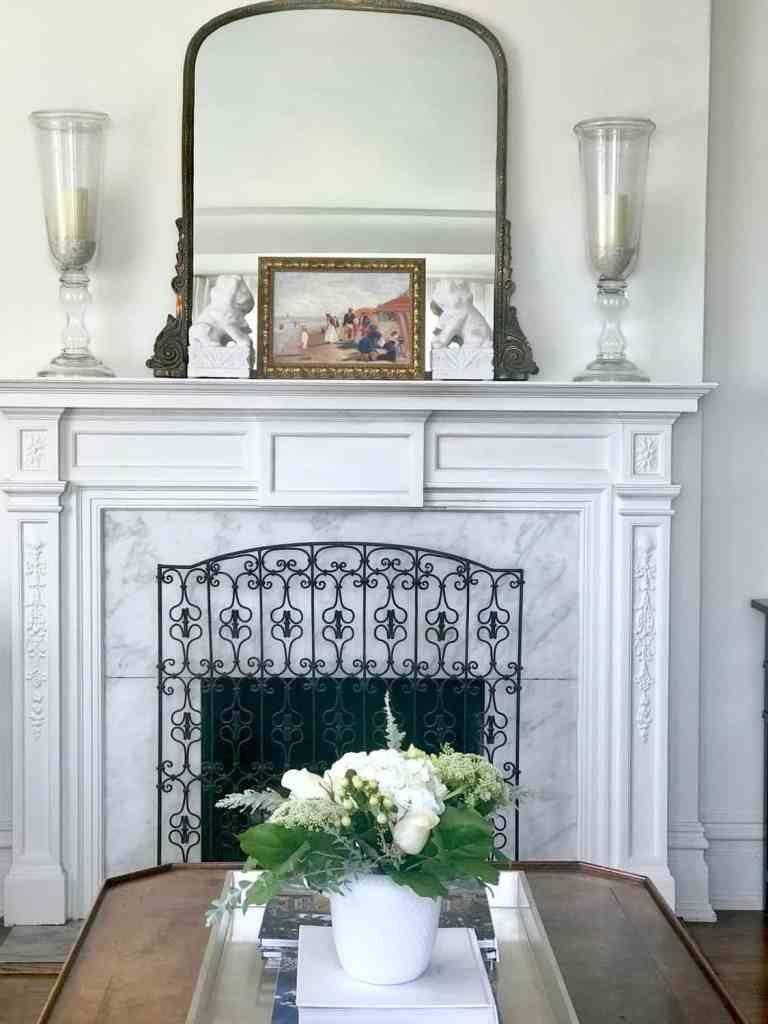 mantel styling, lighten your living room