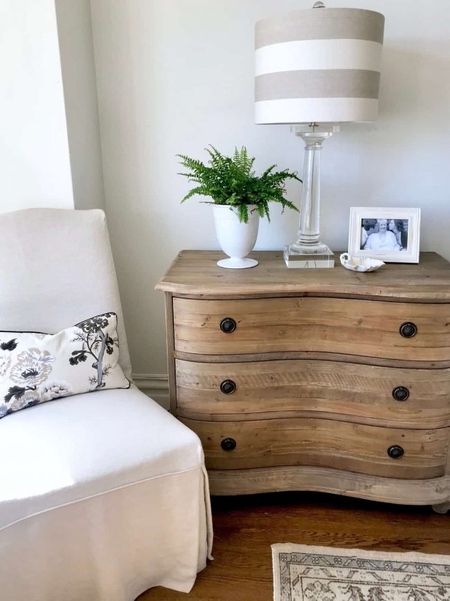 Natural pine French dresser