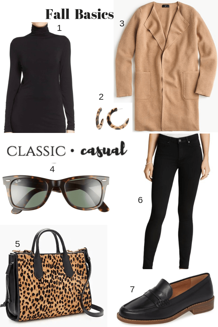 Fall Wardrobe Basics, black jeans, camel sweater, loafers