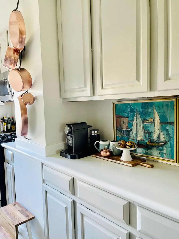 Rental Kitchen with vintage art