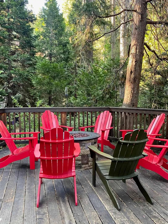 Red Adironack Chairs