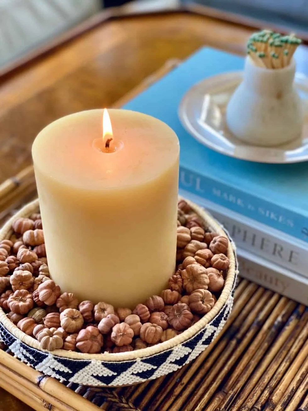Mary Ann Pickett's Fall Candle