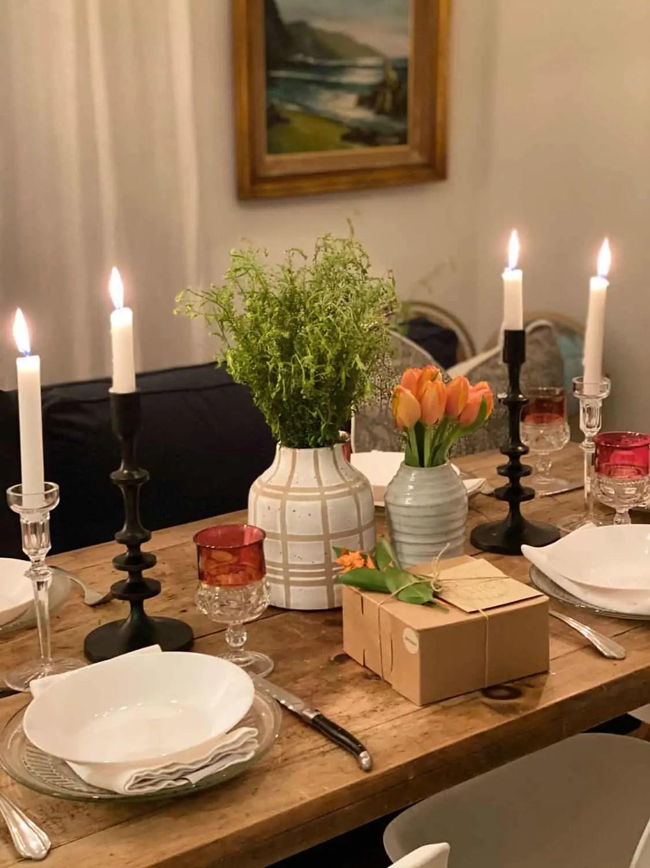 Grandmillenial style table setting