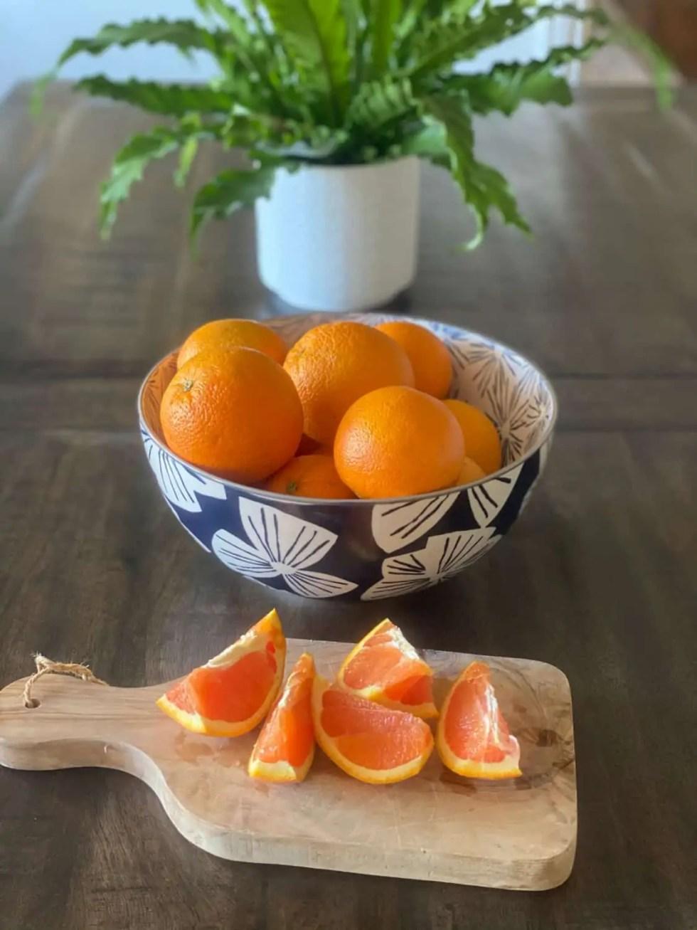 Healthy Orange Snack