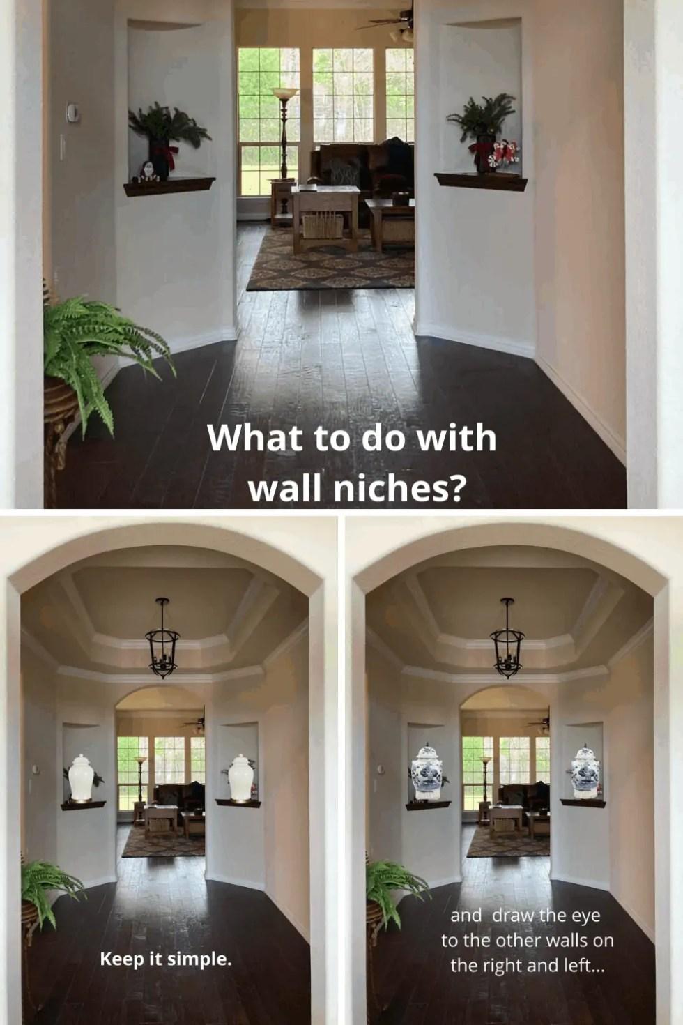 Reader Decorating Dilemma Wall Niche