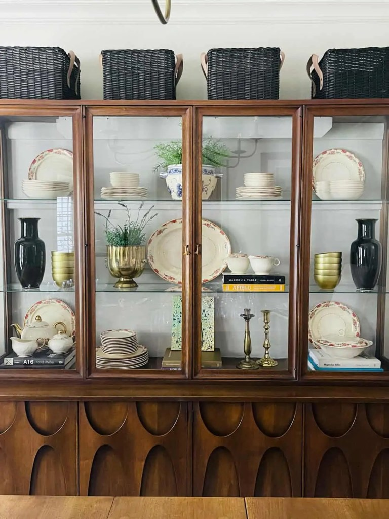 hutch with painted back