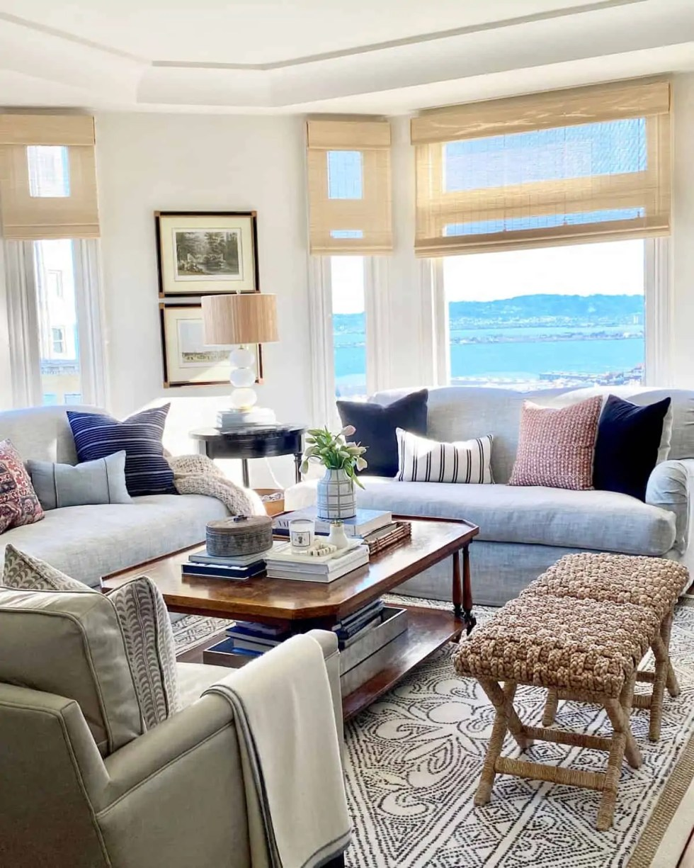 Costa X-Base Textured Stool In Mary Ann Pickett's San Francisco Living Room