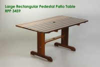 Large Rectangular Pedestal Patio Table - Outdoor Table ...