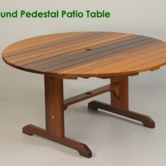 Large Round Patio Table And Chairs Top Rated High Chair Pedestal Outdoor Classic Cedar 56