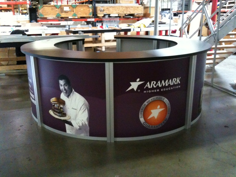 Exhibit Design Search RE 1226 Circular Counter Rental