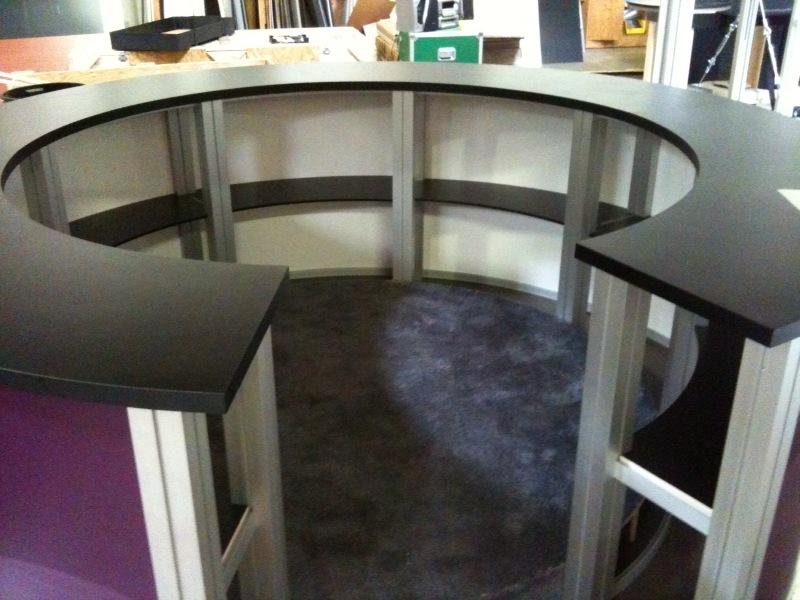 Exhibit Design Search  RE1226  Circular Counter Rental