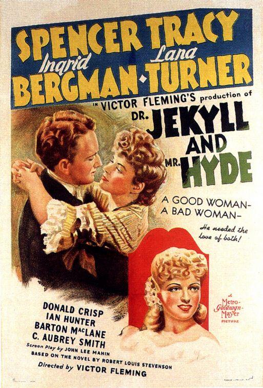 Mr Jekyll And Mr Hyde : jekyll, Jekyll, (1941), Starring, Spencer, Tracy,, Ingrid, Bergman, Turner, Classic, Freak