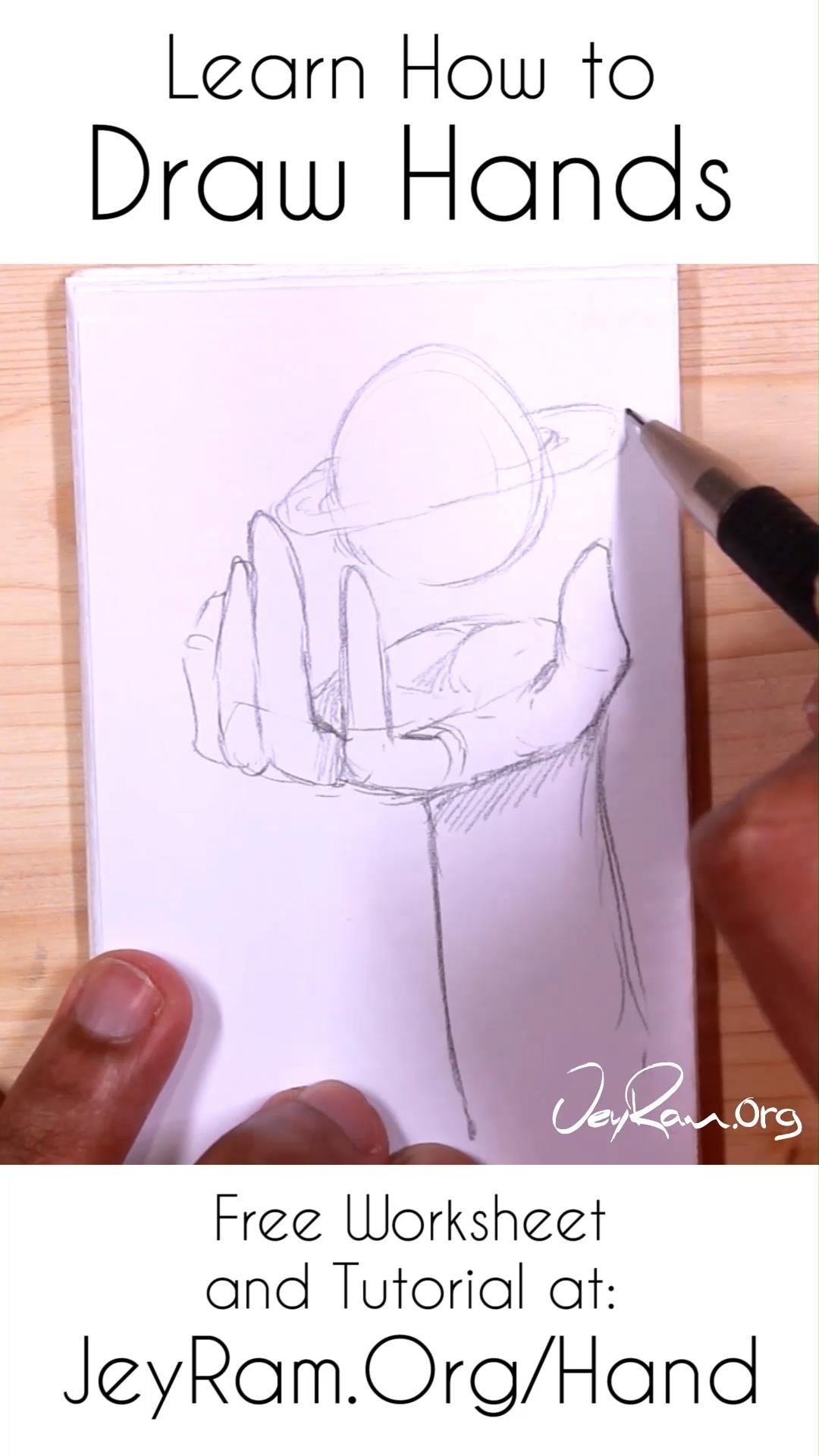 How To Draw Hands Free Worksheet Amp Step By Step Tutorial