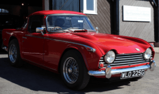 red classic car image