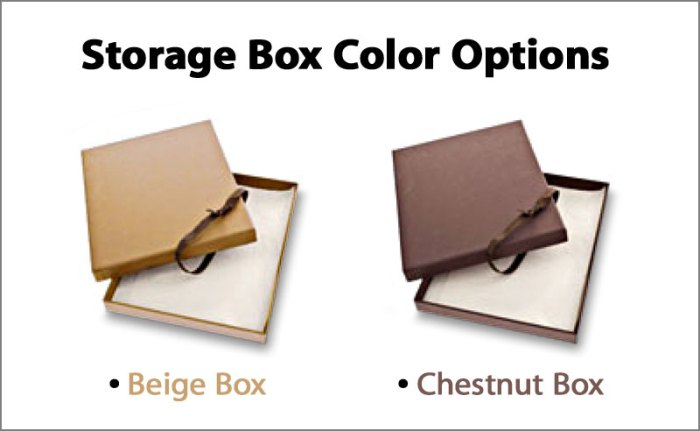 Classic Memories Leather Storage Box Color Options