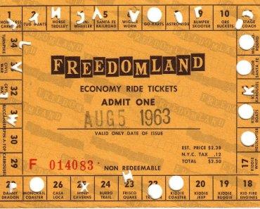 Freedomland U.S.A. Ticket